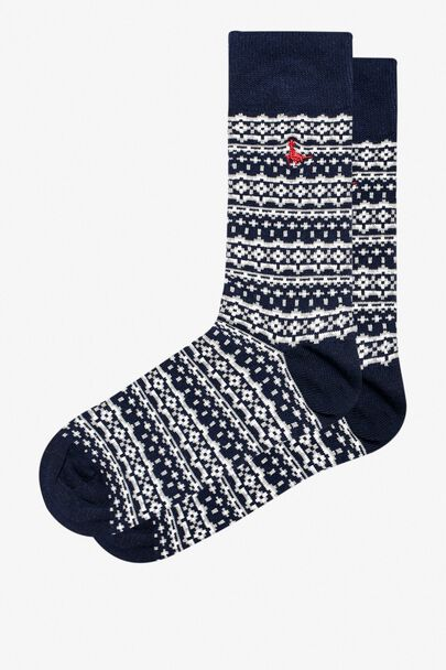 EYNSFORD SINGLE FAIRISLE SOCKS