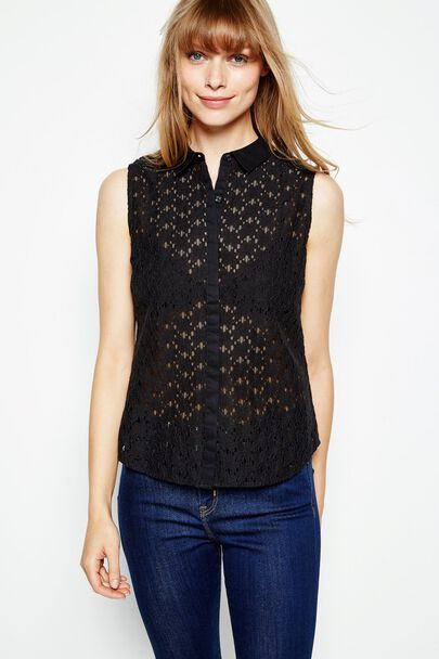 DECKLANT SLEEVELESS LACE SHIRT