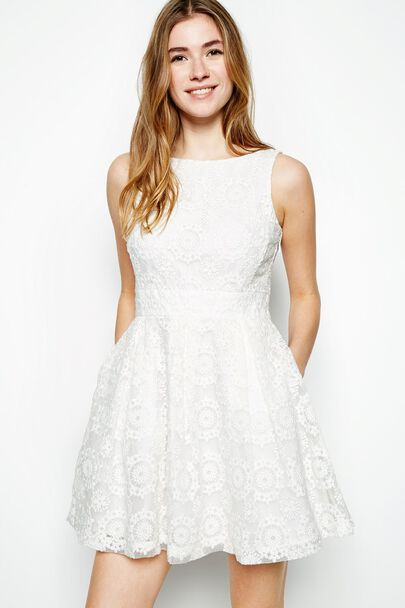 AUBOURN EMBROIDERED ORGANZA DRESS