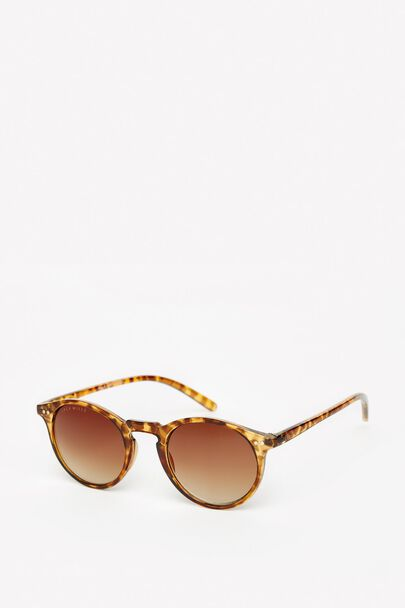 BURDOCK TWO-TONE ROUND FRAME SUNGLASSES