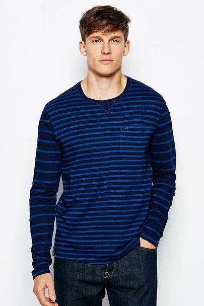 BRICKHILL INDIGO LONG SLEEVE T-SHIRT