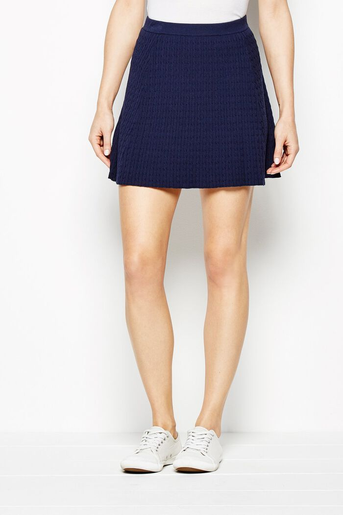 Product photo of Widnington cable skirt navy