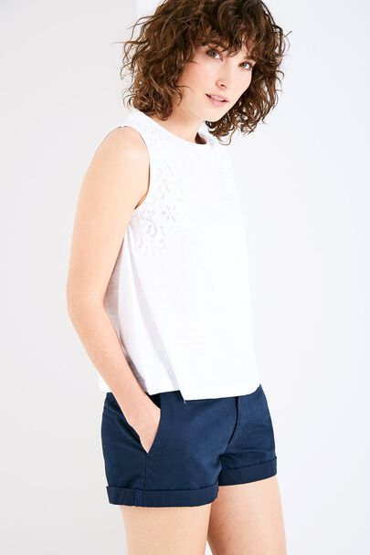 MERYNTON SLEEVELESS LACE TANK