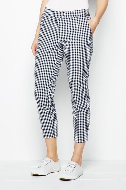 GODDING CROPPED GINGHAM TROUSER
