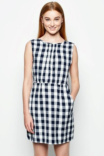 SHANDON SLEEVELESS KEYHOLE BACK DRESS