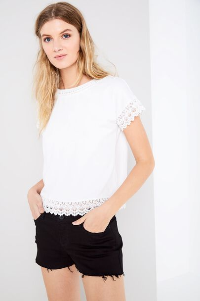 ARKENDALE LACE TRIM T-SHIRT