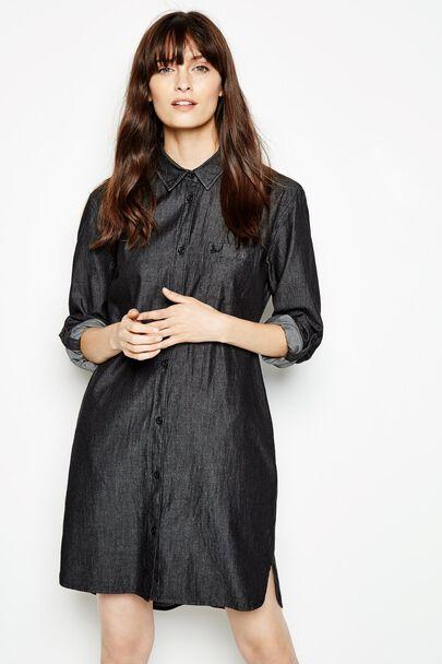 MAGGIE CHAMBRAY SHIRT DRESS