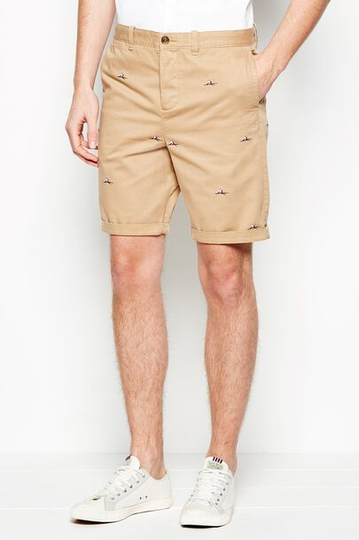 WIDMORE CHINO EMBROIDERED SHORTS