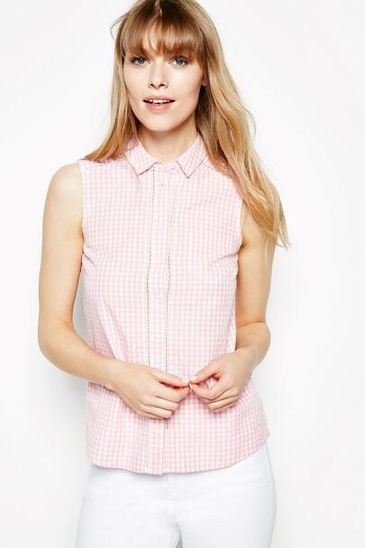ROBESTON GINGHAM SLEEVELESS SHIRT