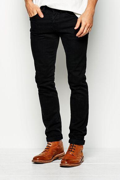 CASHMOOR SKINNY LEG JEAN - LONG WORN BLACK