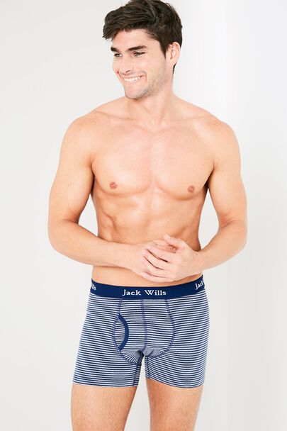 BRIDGENORTH FINE STRIPE BOXER SHORTS