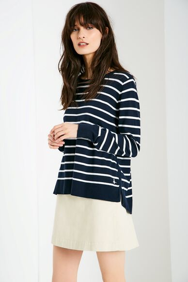 HOLLINGBOURNE STRIPE JUMPER NAVY