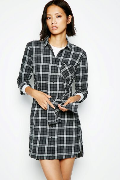 BRANTINGHAM CHECK SHIRT DRESS