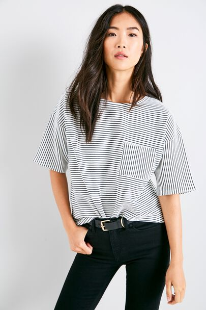 HEREFORD BOXY STRIPE TOP