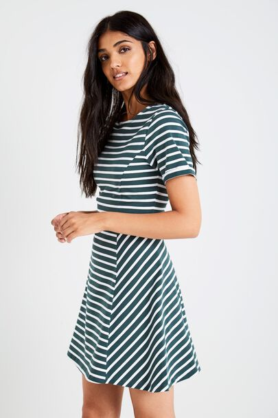 ARNHEM STRIPE FIT & FLARE DRESS