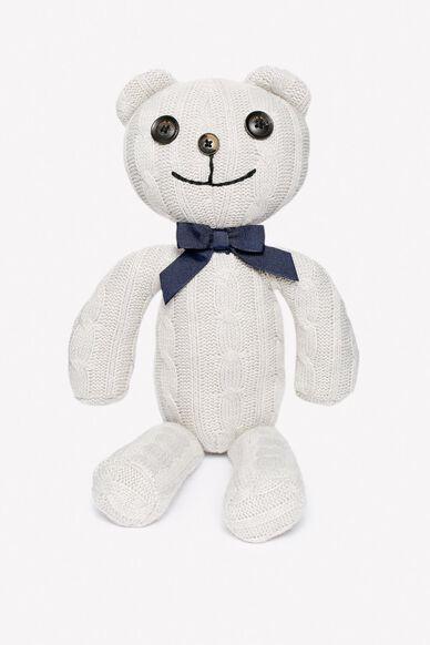 KNITTED TEDDY BEAR GREY