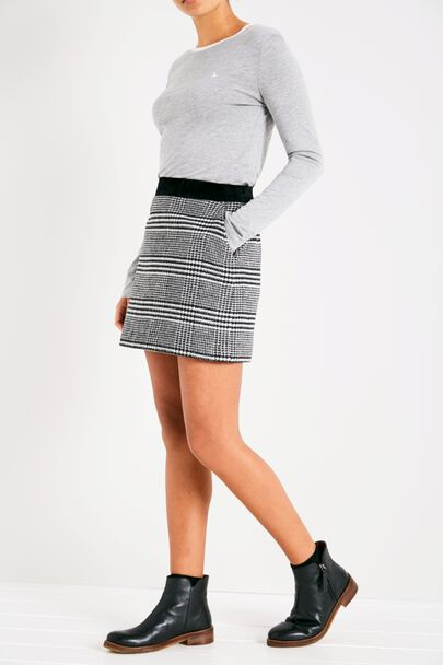 HAMMERLING PLAID A LINE SKIRT