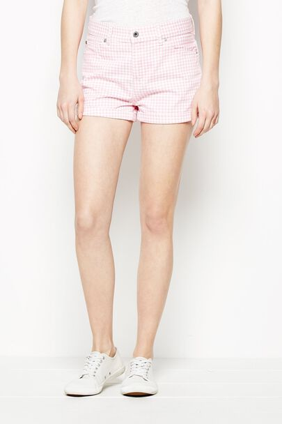 BARRISON GINGHAM DENIM SHORT
