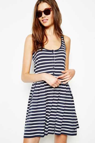 SMETHURST STRIPED JERSEY DRESS