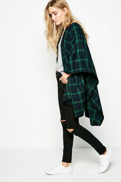 WINSOR CAPEWINSOR CAPE GREEN CHECK