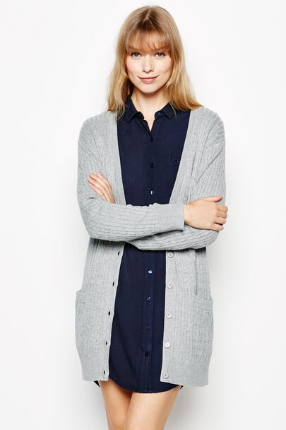 KYTE LONGLINE CABLE CARDIGAN