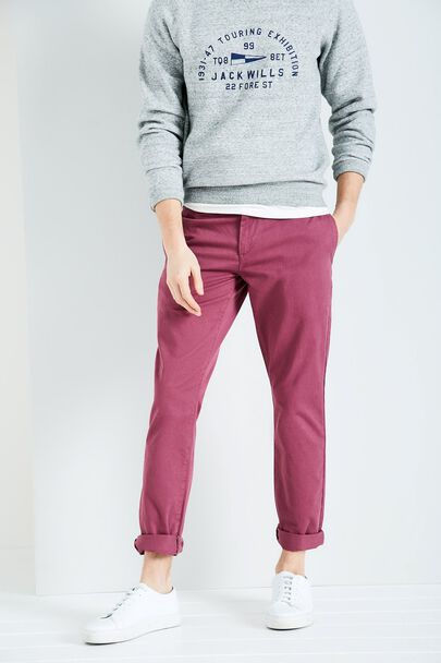 KEADBY LOW RISE CHINO TROUSERS