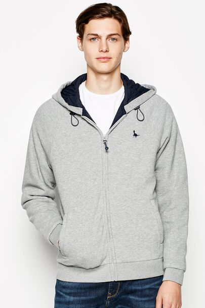 NEWBOTTLE QUILTED LINING ZIP UP HOODIE