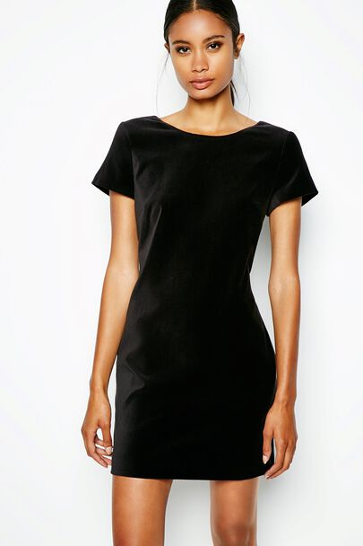 CAMPTON VELVET SHIFT DRESS