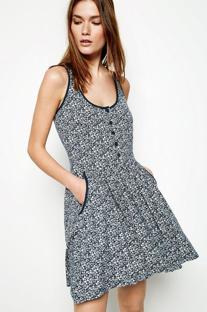 SMETHURST FLORAL JERSEY DRESS