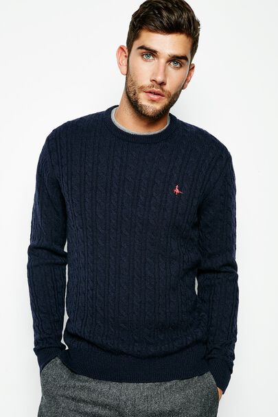 MARLOW MERINO DONEGAL CREW NECK JUMPER