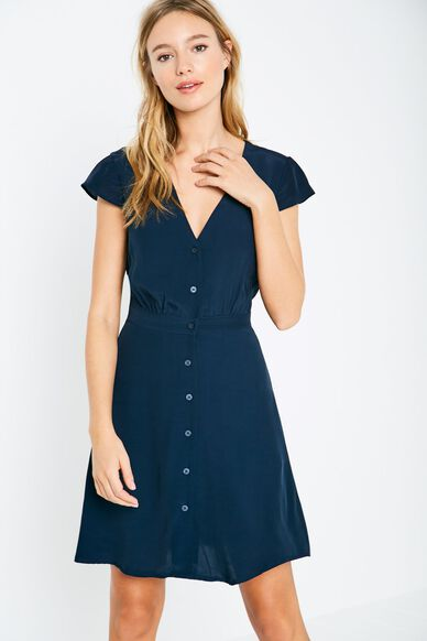DAISYBANK BUTTON DRESS NAVY