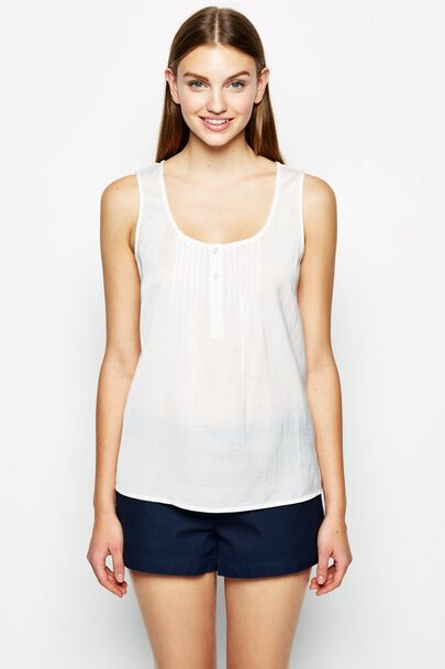 SUFFIELD COTTON VISCOSE VEST TOP