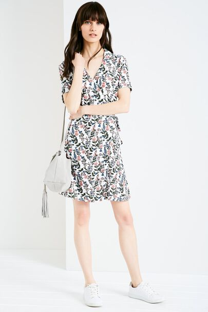 CHESHAM FLORAL WRAP DRESS