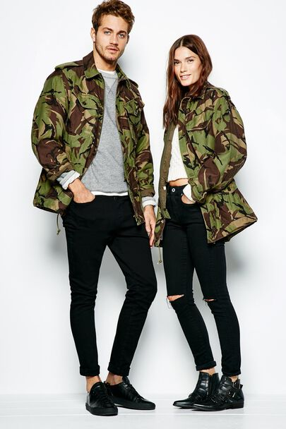 CARRINGTON PRINTED CAMO JACKET
