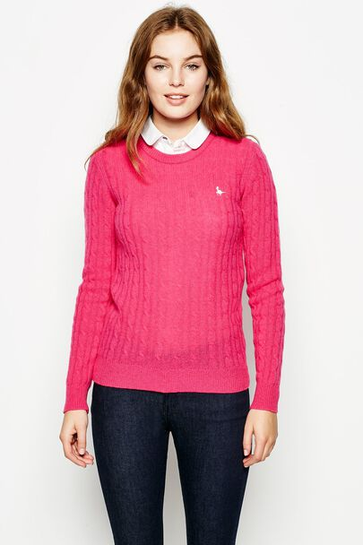 TINSBURY CABLE CREW NECK JUMPER