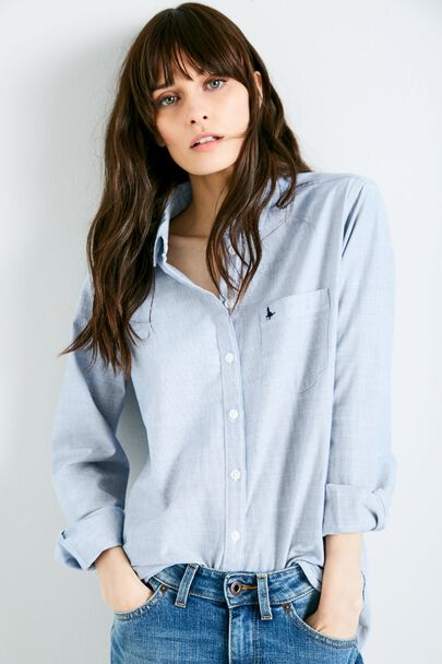BREIGHTON STRIPED BOYFRIEND SHIRT