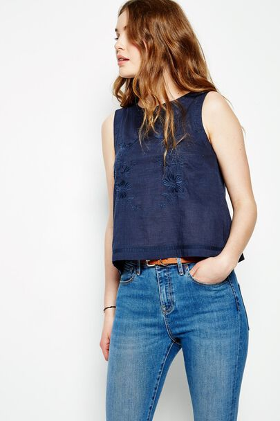 CRANBROOK EMBROIDERED SLEEVELESS TOP