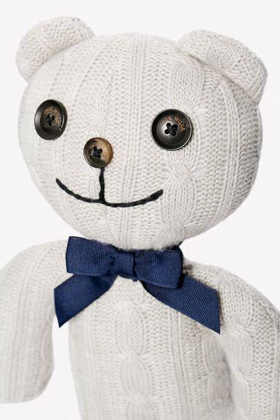 KNITTED TEDDY BEARKNITTED TEDDY BEAR GREY