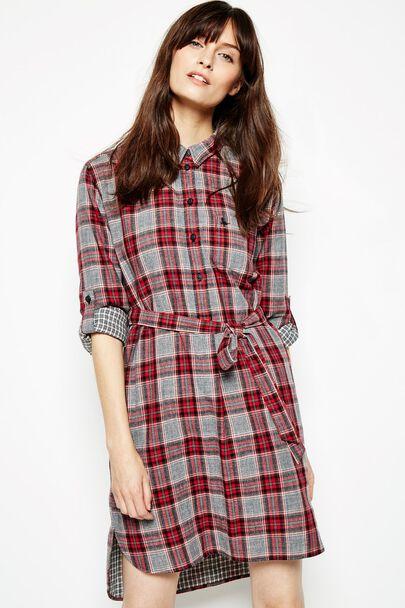 ALDRINGHAM CHECK SHIRT DRESS
