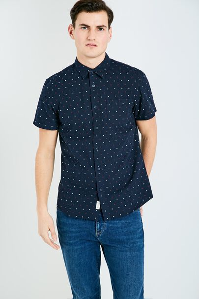 STABLETON SHORT SLEEVE DOBBY SHIRT