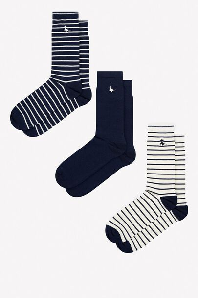 ALANDALE 3 PACK STRIPE SOCKS