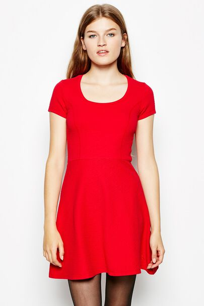 LEAVETT KNITTED SKATER DRESS