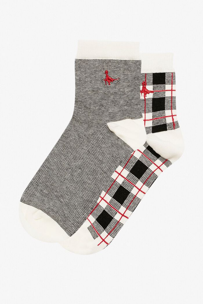 Product photo of Pullborough 2 pack socks black check