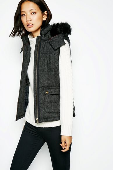 BACKWELL WOOL GILET BLACK