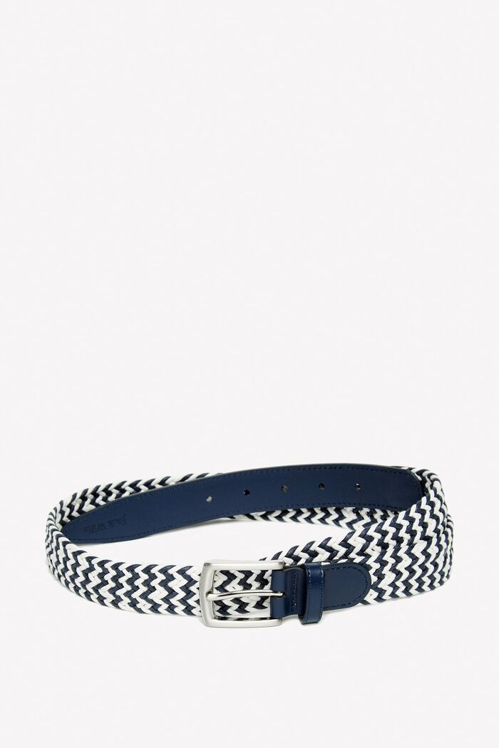 Product photo of Bransby woven belt navy white