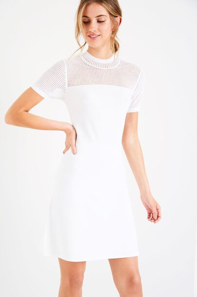 HILLYFIELD SHORT SLEEVE POINTELLE DRESS