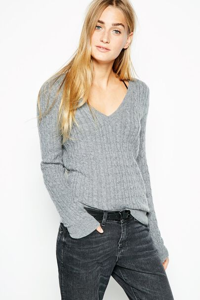 TELFORD CASHMERE V NECK SWEATER
