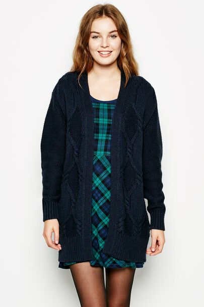 PLOVER CHUNKY CABLE CARDI