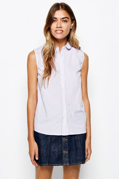 FORTH SLEEVELESS PINTUCK SHIRT