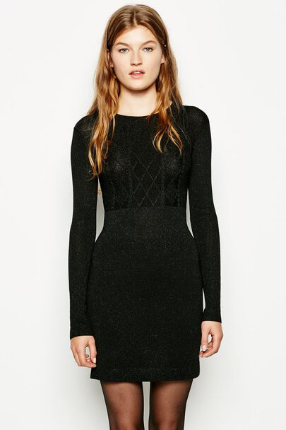 HAWKWELL DIAMOND CABLE KNITTED DRESS